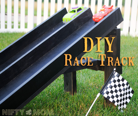 Weekend DIY Project - Wood Race Car Track
