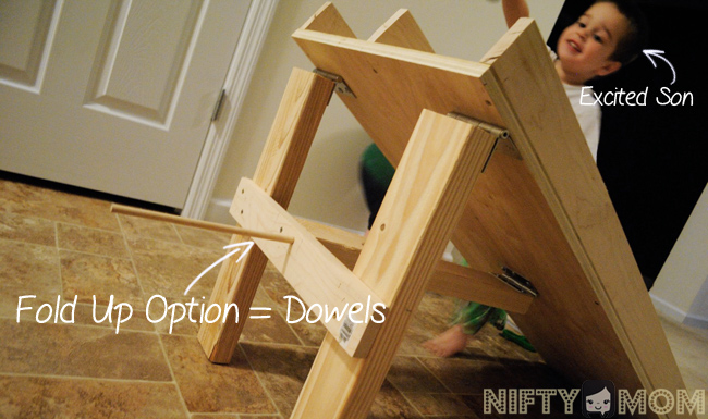 DIY Wood Race Track Fold Up Option #BountyChallenge