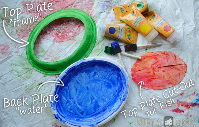 Use 2 Paper Plates to make a 3D Fish Scene #PreschoolCraft