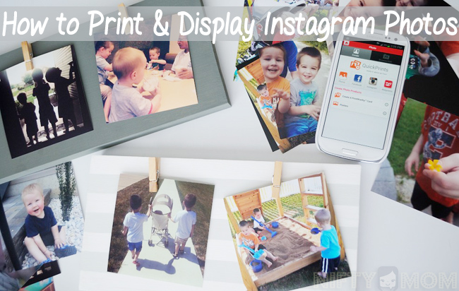 How to Print & Display Instagram Photos #WalgreensApp #Shop