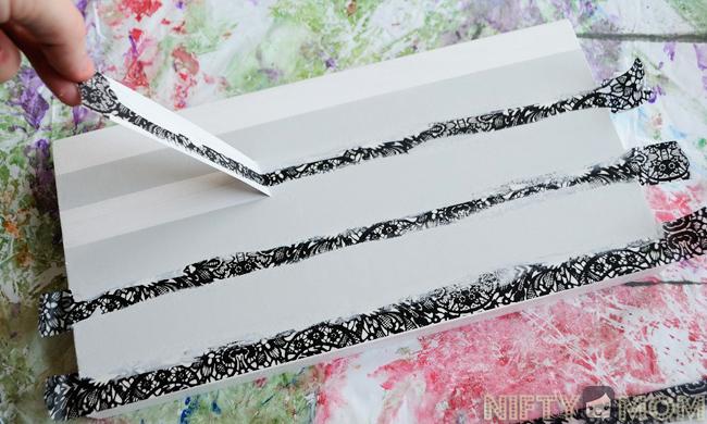 Use washi tape to paint strips #WalgreensApp #cbias #shop