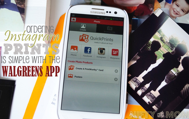 Ordering Instagram Prints with the #WalgreensApp #cbias #shop