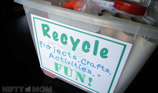 Create a Recycle Bin just for Crafts and Activities