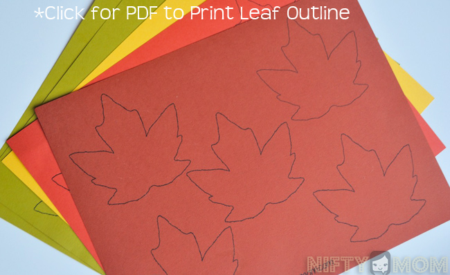 Leaf Outline PDF Printable