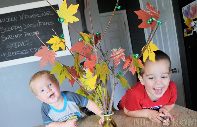 Fall Bucket List Tree with Kids