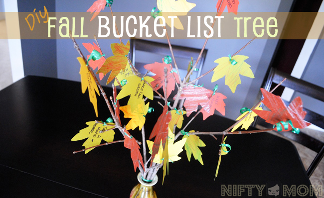 DIY Fall Bucket List Tree with Leaf Printables & List Ideas