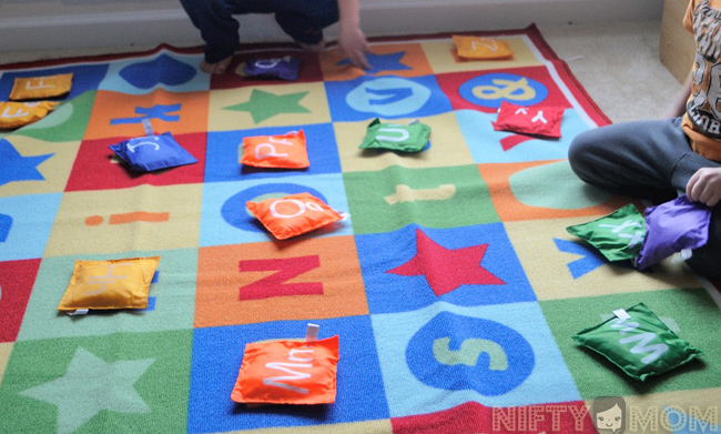 Alphabet Bean Bag Activity