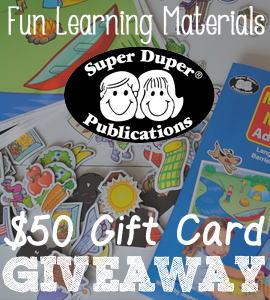 Super Duper Publications $50 Gift Card Giveaway