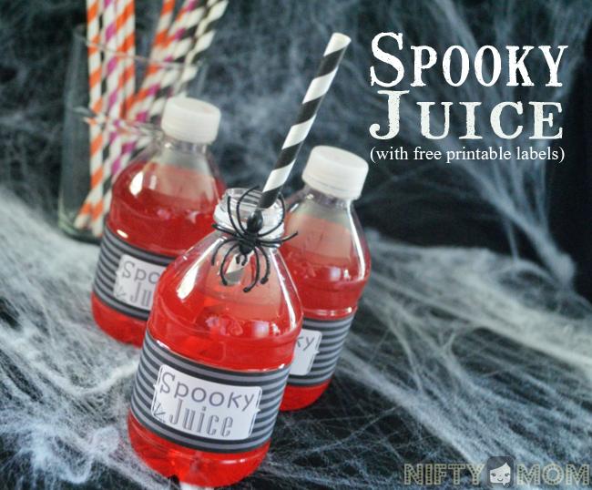 Spooky Juice Free Printable Labels #SpookyCelebration #Shop