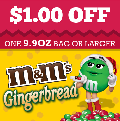 Gingerbread M&M's Coupon #HolidayMM