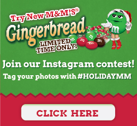 Gingerbread M&M's Instagram Contest #HolidayMM #shop