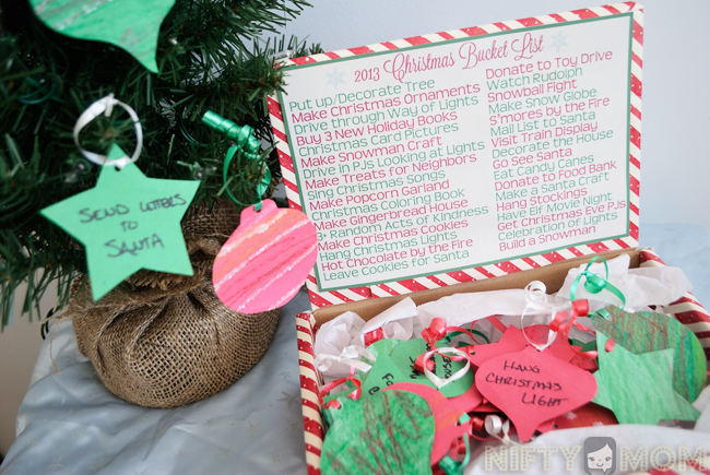 Christmad Bucket List Ideas and Printables
