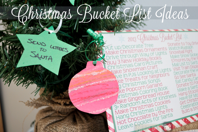 Christmas Bucket List  Ideas with Printables