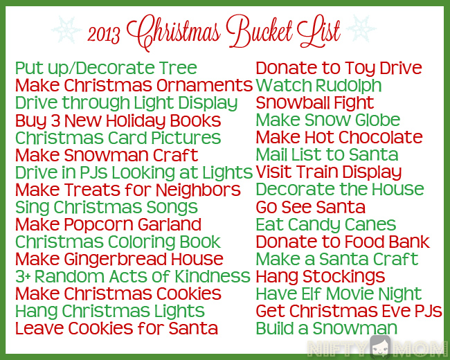 fun christmas bucket list ideas printables nifty mom nifty mom