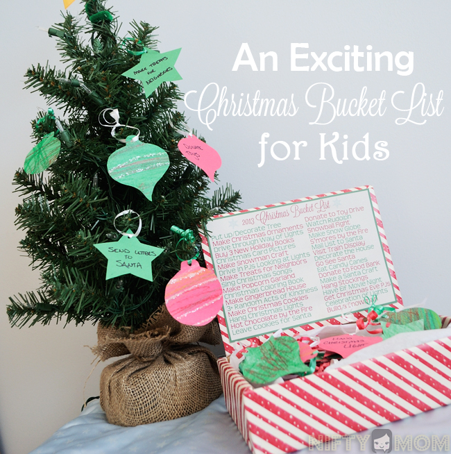Christmas Bucket List Ideas for Kids with Printables