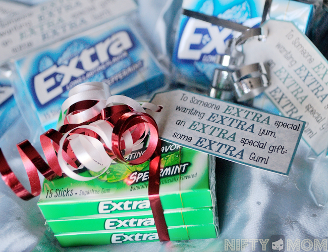 image about Extra Gum Valentine Printable identified as An Added Exciting Present Principle with Further Gum + Printable Labels Tags