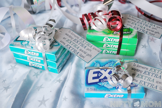 photograph regarding Extra Gum Valentine Printable known as An Much more Enjoyable Present Concept with Added Gum + Printable Labels Tags