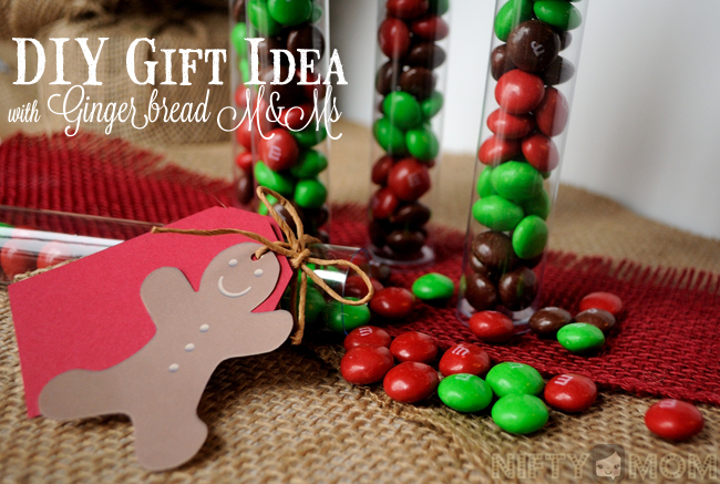DIY Gift Idea with Gingerbread M&M's #HolidayMM
