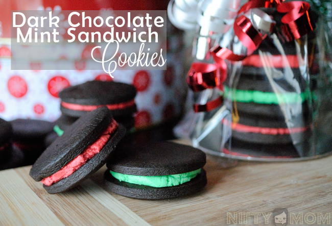 Dark Chocolate Mint Sandwich Cookies Recipe