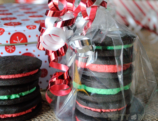 Gifting Dark Chocolate Mint Sandwich Cookies