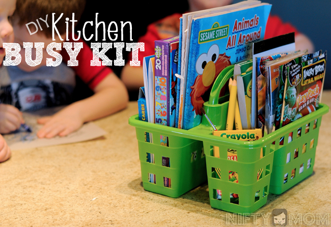 DIY Kitchen Busy Kit with Dollar Store Supplies & Activities