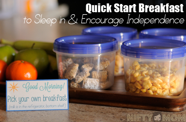 Quick Start Breakfast to Sleep in and Encourage Independence