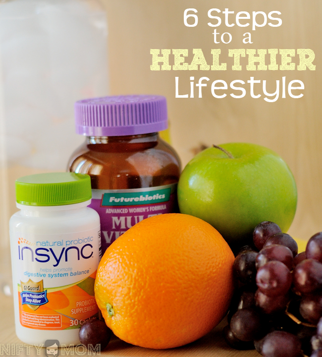 6 Steps to a Healthier Lifestyle #shop #naturalprobiotic