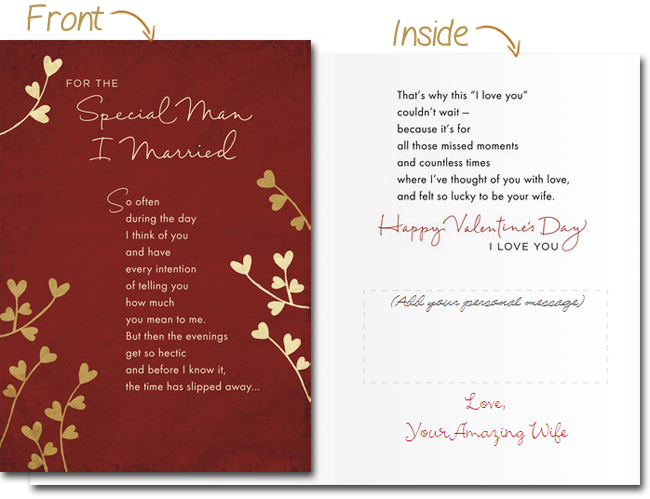 Selecting the perfect valentines card for loved ones valentines day card for husband m4hsunfo