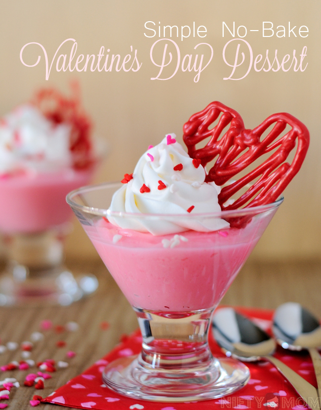 Simple No Bake Valentine's Day Dessert