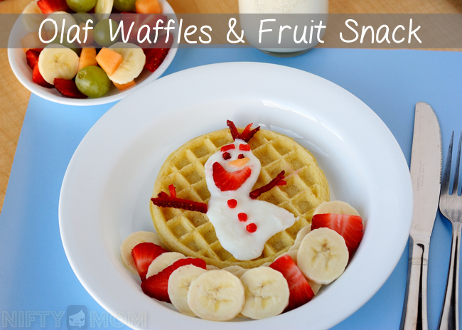 Disney's FROZEN Inspired Olaf Waffles & Fruit Snack #FROZENFun #shop