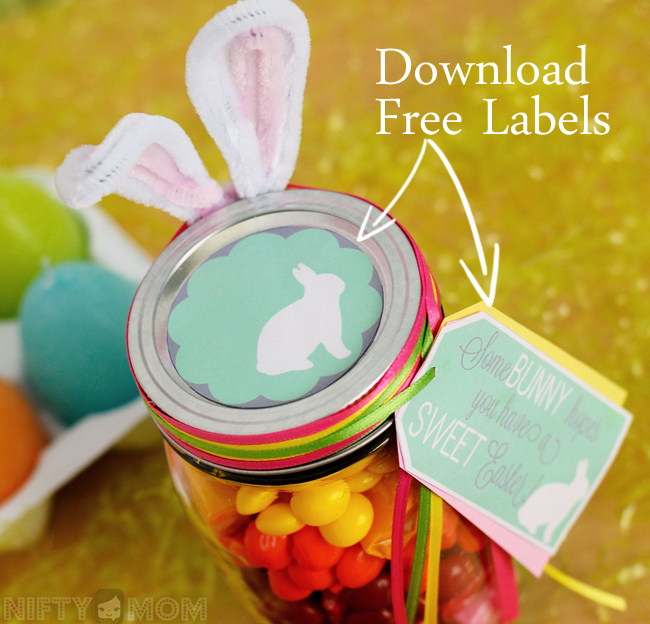 Download Free Labels for Mason Jar Easter Gift #VIPFruitFlavors