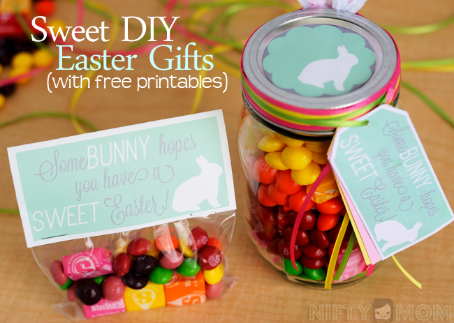 2 sweet diy easter gift ideas with printable tags negle Images