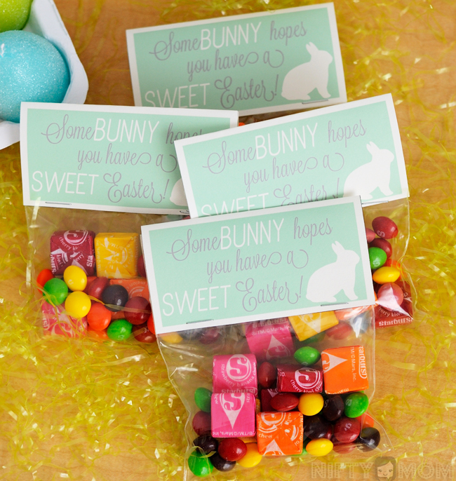 2 sweet diy easter gift ideas with printable tags sweet easter treat bags with printable label vipfruitflavors shop negle Images