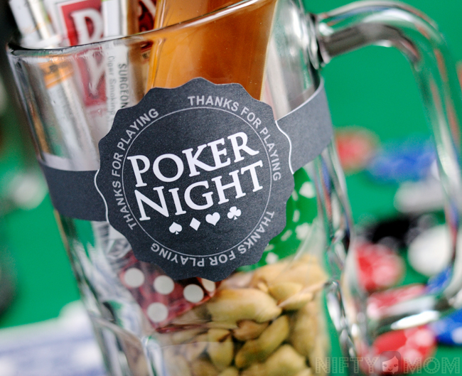 Poker Night Gift Mug Free Printable Labels