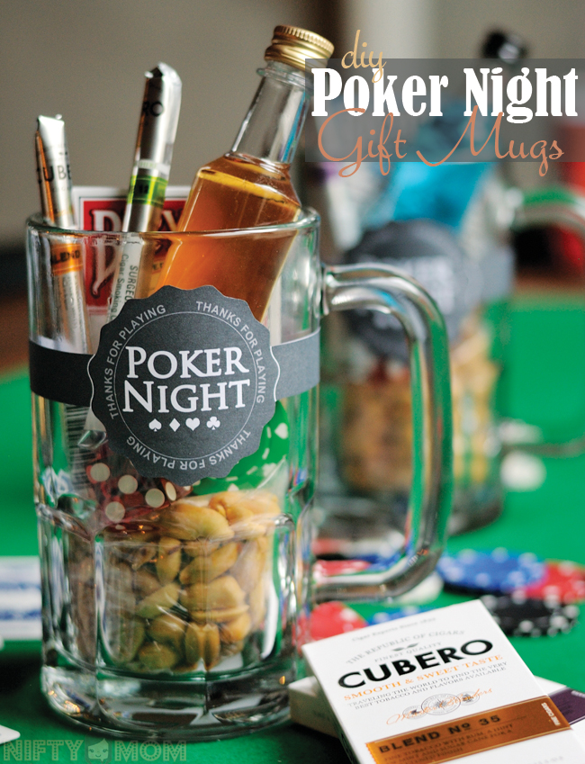 DIY Poker Night Gift Mugs - Perfect for hosting a poker night