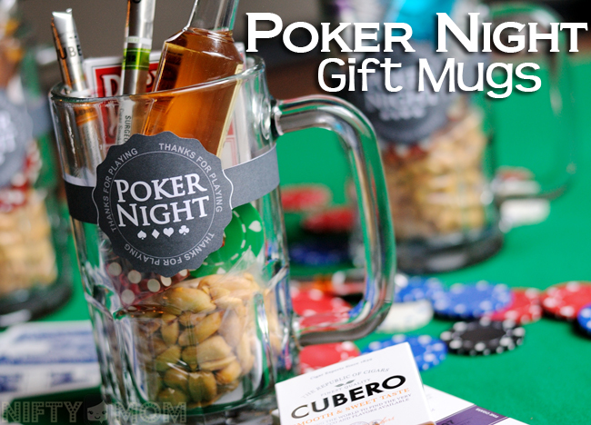 Poker Night Idea - DIY Poker Night Gift Mugs for Guests