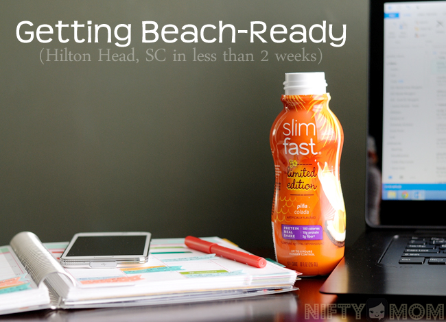 Getting Beach-Ready with Slimfast #14daystoslim