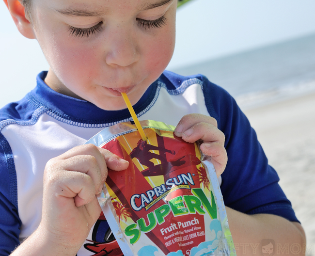 Keeping Cool at the Beach with Capri Sun #CapriSunMomFactor