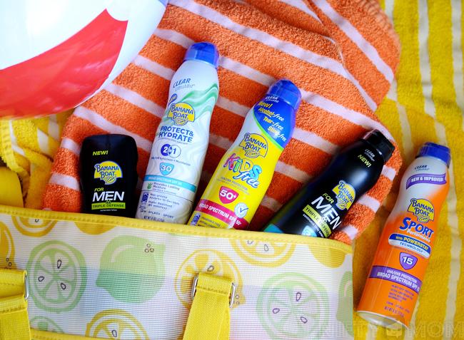 Banana Boat Sunscreen Varieties in My Bag