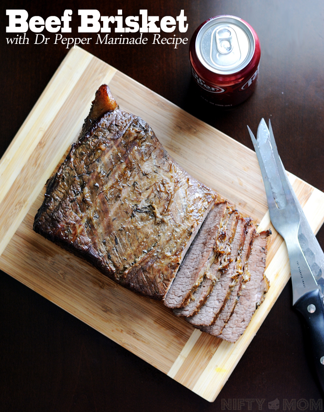 Beef Brisket with Dr Pepper Marinade Recipe #BackyardBash #shop
