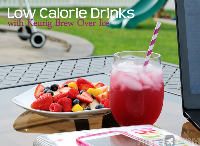 Low Calorie Drinks with Keurig Brew Over Ice #BrewItUp #shop