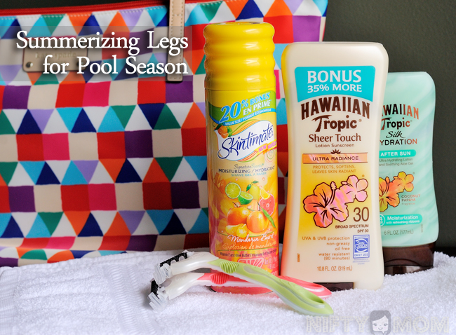 Summerizing Legs for Pool Season #SummerizeYourLegs #shop