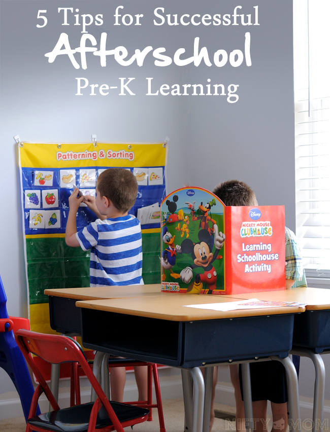 5 Tips for Successful Afterschool Pre-K Learning  #Ready4Preschool #shop