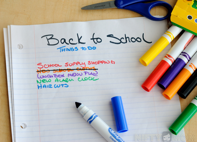 Back to School Prep #GreatList