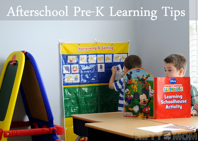 Afterschool Pre-K Learning Tips #Ready4Preschool #shop