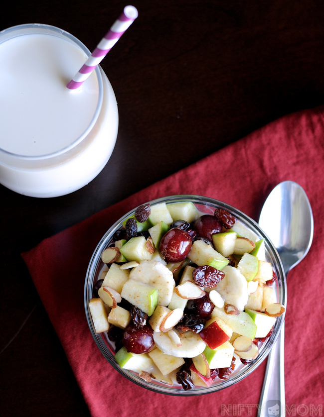 Fruit Salad with Almondmilk