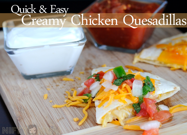 Quick & Easy Creamy Chicken Quesadillas Recipe #Labels4Edu #shop