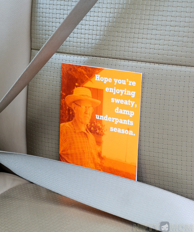 Hallmark Buzzworthy Card in the Car #TrendyCards #shop