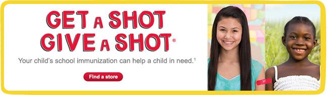 Walgreens Get a Shot. Give a Shot #GiveaShot #shop