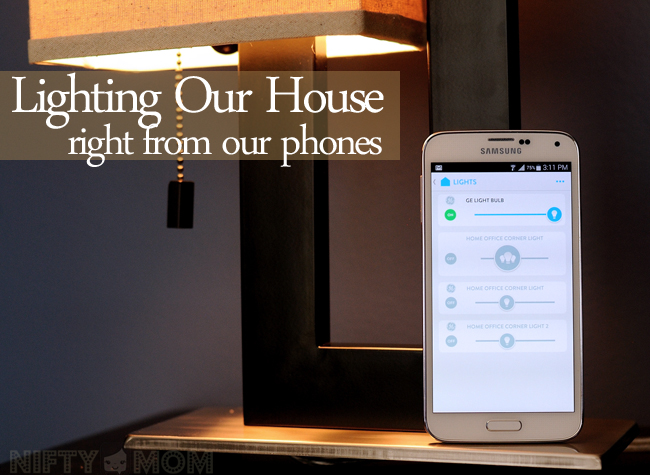 Lighting Our House Right from our Phones #GELink #shop